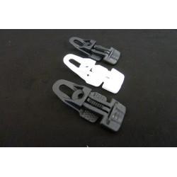 sorte og hvide clips